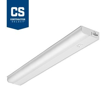 Lithonia Lighting UCEL 10 Watt 24 Inch Contractor Select White LED Linkable Cabinet Light 90 CRI 3000K