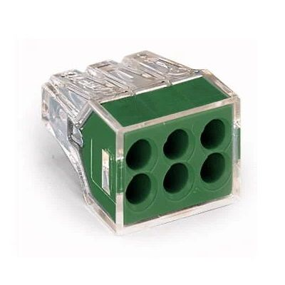 WAGO 773-116 WALL-NUTS 6 Conductor Push-Wire Green Face Connector for Junction Boxes - 50 PCS