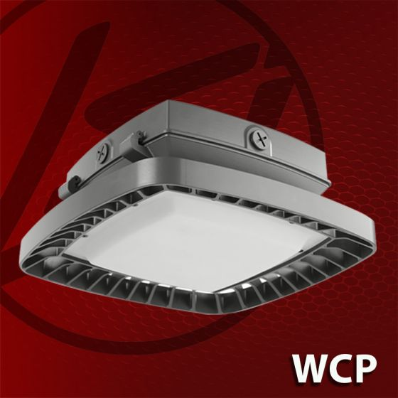 LSI Industries WCP-LED DLC Qualified LED Walkway Canopy Light Fixture Dimmable 120V-277V