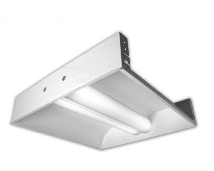 Howard Lighting Di24d254hpsmv000000i Di Series T5 54w 54 Watts 2x4 2 X 4 Ft Fluorescent Direct Indirect Troffer 4100k