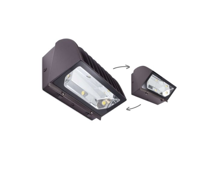 Jarvis Lighting Al Emer Series Reversible Led Wallpack Fixtures With Emergency Battery Back Up