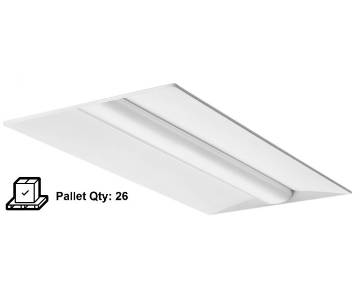 Lithonia Lighting Blt Series 2x4 38 Watt Low Profile Recessed Led Troffer Light Fixture 4600 Lumen Pallet Of 26 Units