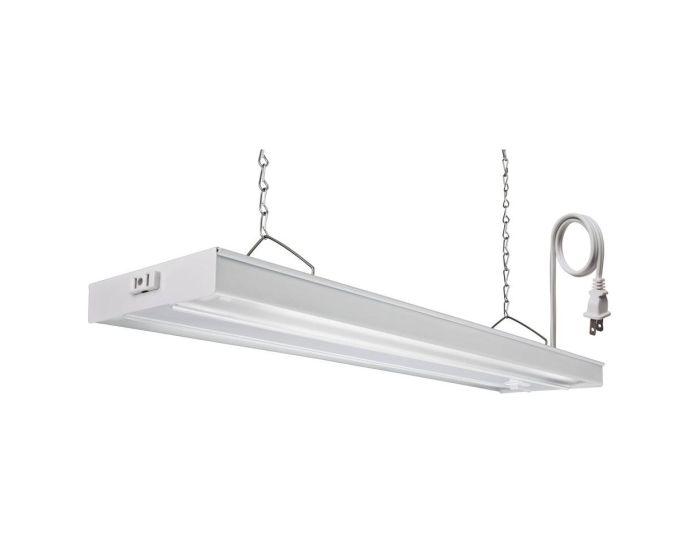 Lithonia Lighting Grw 2 28 Csw Co M4 56 Watt Two Lamp 2 Foot T5 Fluorescent Grow Light Fixture White Finish 120v 6500k