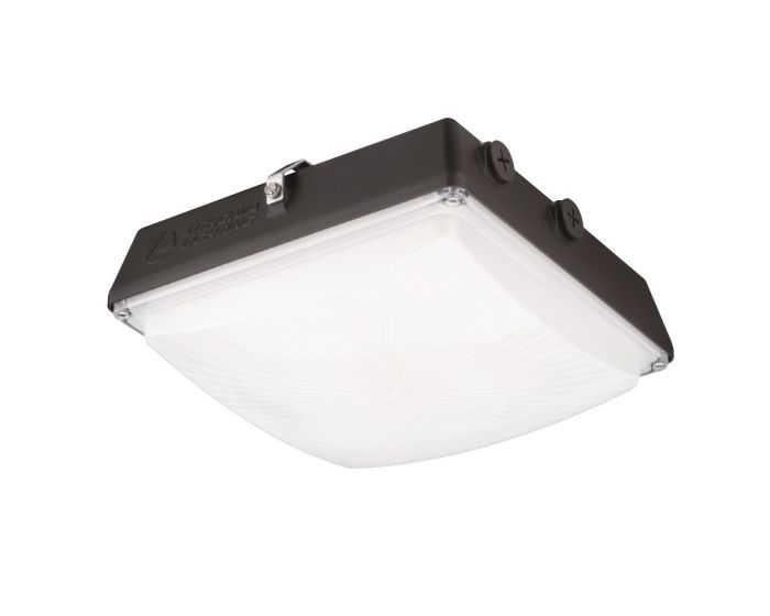 Lithonia Lighting Cny Led P1 Dlc Premium Listed 35 Watt Contractor Select Canopy Light Fixture Dark Bronze Replaces 150w Hid