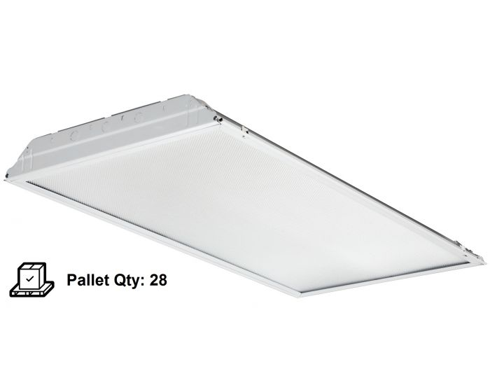 Lithonia Lighting 2gtl4 Swl Mvolt Lp840 39 Watt 2x4 Led Recessed Lay In Troffer Fixture Satin White Lens Pallet Of 28 Units