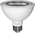 RAB Lighting PAR30S-11 Energy Star Rated 11 Watt LED PAR30S E26 Lamp 120V Dimmable 50W Equivalent