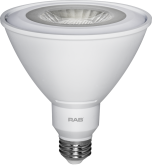 RAB Lighting PAR38-15-830-25D-DIM Energy Star Rated 15 Watt LED PAR38 E26 Lamp 120V Dimmable 3000K 100W Equivalent