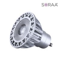 Product Bulbrite 777569 SM16GA-07-25D-830-03 LED MR16 GU10 120V 7.5 Watt 3000K SORAA V3 Brilliant Narrow Flood