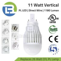 3BL-LED Series DLC Listed 11 Watt PL LED Vertical Direct Wire Lamp 100-277V Replaces 26W CFL