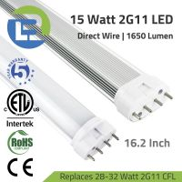 3BLl LED 15 Watt 2G11 4-Pin PLL LED Retrofit Tube Lamp Direct Wire Series Replaces 28-32W CFL