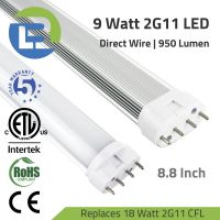 3BLl LED 9 Watt 2G11 4-Pin PLL LED Retrofit Tube Lamp Direct Wire Series Replaces 18W CFL