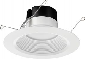 Lithonia Lighting WF6 Series Low Lumen LED 6 Inch Wafer Recessed Downlight Fixture with Switchable White Color Temperature