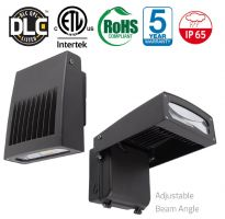 3BL LED 25 Watt DLC Listed LED Adjustable Wall Pack Fixture for 50W HID Retrofit