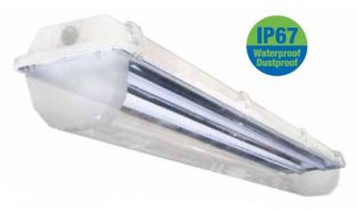 ILP Amazon WCL8-4T5-UH 8 Ft 8' T5HO Fluorescent Vapor Tight Light Fixture with Water Clear Lens Product Image
