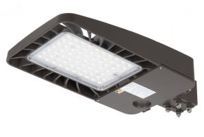 Energetic Lighting E3SBH Series LED Area Light Type III with Photocell 5000K 347-480V