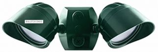 Product Green/Verde RAB Lighting BULLET2X12 24 Watts LED FLood Kit with CU4 & Hood with Adjustable Dual Heads 120V (Product Configurator)