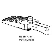 Energetic Lighting E3SB-ARM Fixed-Angle Post Surface Adapter for E3SB Series Shoebox Fixture