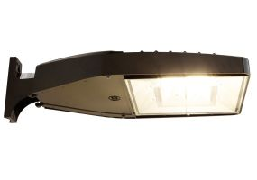GE Lighting EALS030D3AW740NDD1DKBZ 70 Watt LED Area Light Fixture Type III with Universal Mounting Arm 93096642