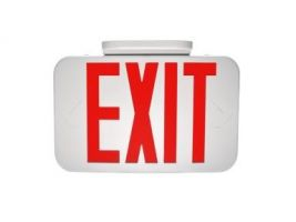 MaxLite EX-RW LED Exit Sign White Thermoplastic with Red Letters