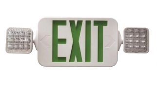 Fulham Lighting FHEC33W Firehorse LED Emergency Exit Sign Frog Eye Combo with Backup Battery Damp Location