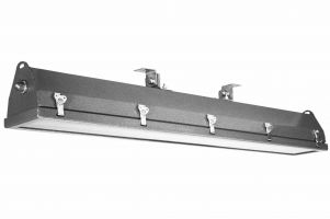 4 Foot 2 Lamp 56 Watt Hazardous Location Marine Grade Coast Guard Approved Aluminum LED Rig Light Fixture 120-277V