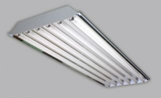 Image 1 Alphalite HBA-654-UNV-PSN HBA Series 6 Lamp F54T5HO High Performance Fluorescent High Bay Programmed Start