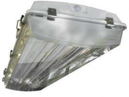 Howard Lighting VHA1A454APSMV000000I VHA1 4 Lamp T5 HO Fluorescent Enclosed Vapor Dust Proof Lighting Fixture NSF IP67
