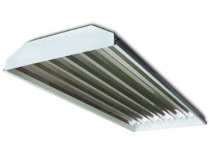 Howard Lighting HFA1 6 Lamp T5 HO Linear Fluorescent High Bay Lighting Fixture Enhanced 95% Reflector HFA1E654APSMV000000I