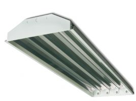 Howard Lighting HFA2 4 Lamp T5 HO Linear Fluorescent High Bay Lighting Fixture Enhanced 95% Reflector HFA2E454APSMV000000I