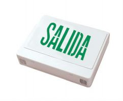 Howard Lighting HL0201B2GW-ESP LED Exit Sign in Spanish Green Letters Battery NiCad