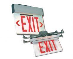 Howard Lighting HL0203NYRB2RCA HL0203 Series Edge Lite LED Exit Sign New York Approved