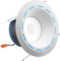 Juno Lighting J6AI DB 10LM TUWH 90CRI 120 WWH JBL ALXA 6 Inch LED Retrofit Smart Home Downlight with Speaker and Amazon Alexa - Baffle Trim