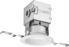 Lithonia Lighting 3JBK RD 30K 90CRI MW M6 7 Watt 3 Inch White Integrated Direct Wire LED Recessed Downlight Kit - Canless OneUp