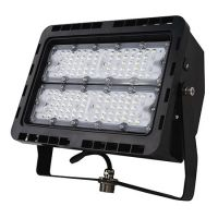 NaturaLED LED-FXFDL100/66/40K/BK DLC Premium Listed 100-Watt LED Floodlight Yoke Mount Fixture 400-575W Equivalent