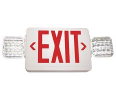 LSI Industries LPRX R U WH LD11 Thermoplastic Combo Red Exit/Emergency Frog Eyes Light Fixture