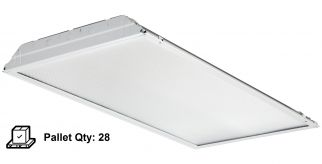 Lithonia Lighting 2GTL4 A12 120 LP840 39 Watt 2X4 LED Recessed Lay-In Troffer Fixture (Pallet of 28 Units)