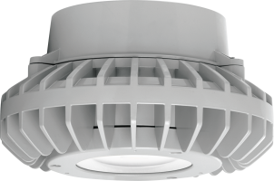 Flat Clear Lens RAB Lighting HAZPLED42 42W LED Pendant Mount Hazardous Location Fixture 5100K