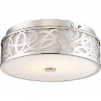Satco Lighting 62-977 20 Watt LED Flush Mount Emergency Back-up Ready EMR Light Fixture in Brushed Nickel Dimmable 3000k