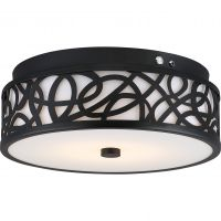 Satco Lighting 62-978 20 Watt LED Flush Mount Emergency Back-up Ready EMR Light Fixture in Aged Bronze Dimmable 3000k