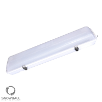 Snowball Lighting SB/TP/F/2FT/20W DLC Qualified 20 Watt 2ft LED Tri Proof Vapor Tight Linear Light Fixture 120-277V