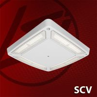 LSI Industries DLC Qualified SCV LED Petroleum Canopy Light Fixture Dimming 120-277V 5000K