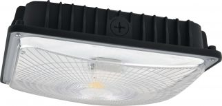 NaturaLED LED-FXSCM59/40K/BK-SEN DLC 4.0 Premium Listed 59 Watt LED Slim Canopy Fixture 4000K - Microwave Motion Sensor Included