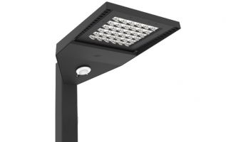 LSI Industries SLM-LED Series DLC Qualified Slice Medium LED Outdoor Area Light Fixture Dimmable