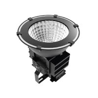 Snowball SB-HB/H/200W DLC Qualified 200 Watt LED High Bay Sports Light Fixture Dimmable with Adjustable Bracket Replaces HID
