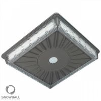 Snowball Lighting SB-CPG70W27 DLC Listed 70 Watt Super Slim 4-Way LED Parking Garage Canopy Light Fixture 100-277V