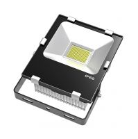 Snowball SBF/A/100W DLC Premium 100 Watt LED Flood Light Fixture 100-277V with High Transmittance Anti-Impact Cover