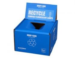 Veolia SUPPLY-253 RecyclePak Small CFL Dropbox Container Kit Prepaid Return Shipping Product