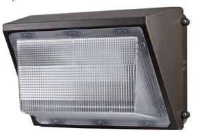Louvers International 45 Watt DLC Listed LED Standard Wallpack Light Fixture
