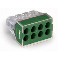 WAGO 773-118 WALL-NUTS 8 Conductor Push-Wire Green Face Connector for Junction Boxes - 50 PCS