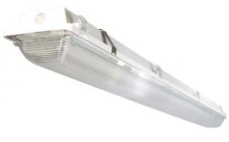 Main Image ILP WTZ-16W-UNIV-50 DLC Premium Listed 16 Watt 4 Foot Amazon LED Wet Location Light Fixture 120-277V 5000K